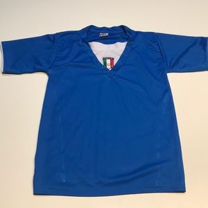Youth Large Blue ITALIA Soccer Jersey Shirt